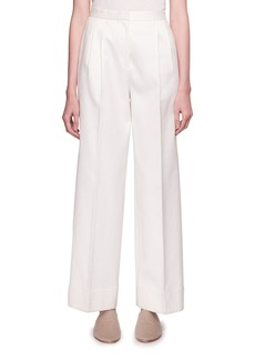 THE ROW Lian High-Waist Wide-Leg Wool Pants