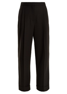 The Row Liano high-rise stretch-wool trousers