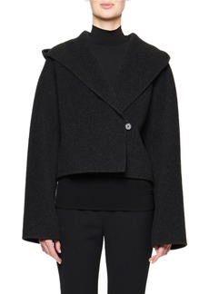 THE ROW Lilou Hooded Wool Jacket