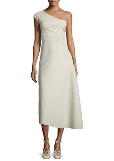 THE ROW Linus One-Shoulder Midi Dress
