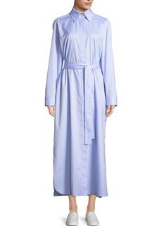 The Row Lira Button-Down Long-Sleeve Shirtdress