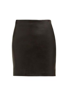 The Row Loattan leather mini skirt