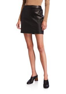 THE ROW Loattan Leather Mini Skirt