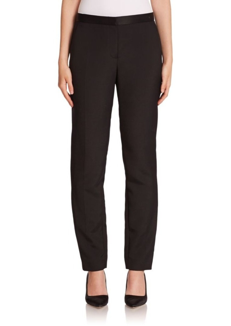 The Row Locu Silk-Trim Pants
