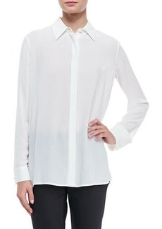 THE ROW Long-Sleeve Collared Blouse