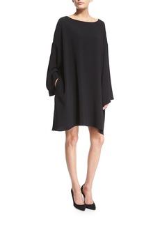 The Row Long-Sleeve Mini Caftan Dress