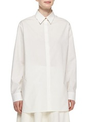 THE ROW Long-Sleeve Oversized Button Blouse