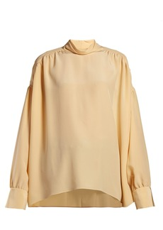 The Row Losaline silk crepe de Chine blouse