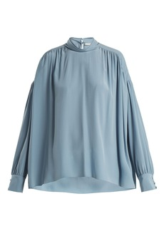 The Row Losaline silk crepe de Chine blouse