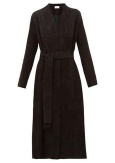 The Row Luisa stretch-lambskin suede coat