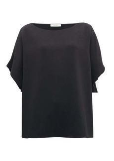 The Row Lylia boat-neck cady blouse