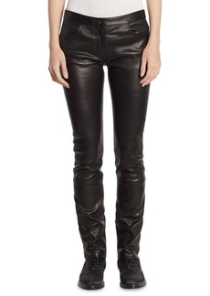 The Row Maddly Leather Pants