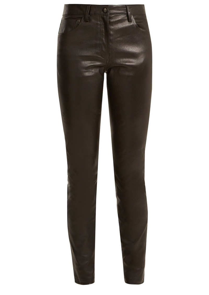 The Row Maddly skinny-leg leather trouser
