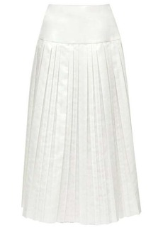 The Row Magdita knife-pleated canvas midi skirt