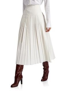 THE ROW Magdita Pleated Silk Skirt