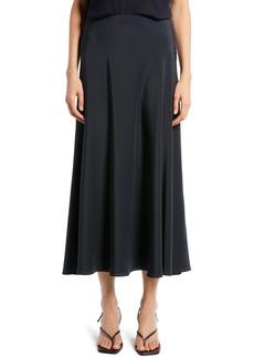 The Row Malena Long Silk Compact Crepe Skirt