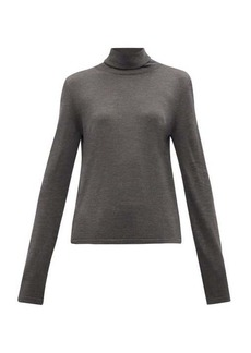 The Row Margita roll-neck silk sweater
