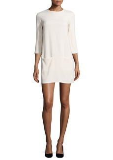 THE ROW Marina 3/4-Sleeve Mini Dress  Cream