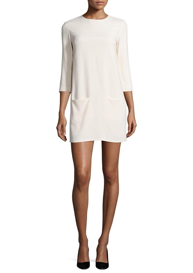 THE ROW Marina 3/4-Sleeve Mini Dress  Cream