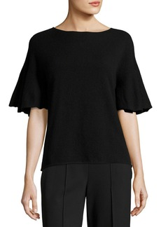 THE ROW Marley Flutter-Sleeve Top