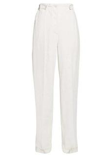The Row Matea high-rise linen-blend canvas trousers
