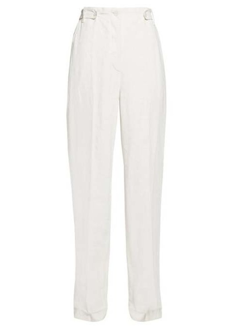 The Row Matea high-rise linen-blend canvas trousers
