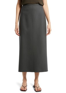 The Row Matias Wool Midi Skirt