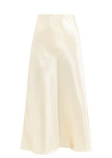 The Row Medela bias-cut satin midi skirt