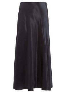 The Row Medela satin midi skirt