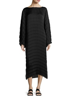 THE ROW Melanie Pleated Crepe Midi Dress