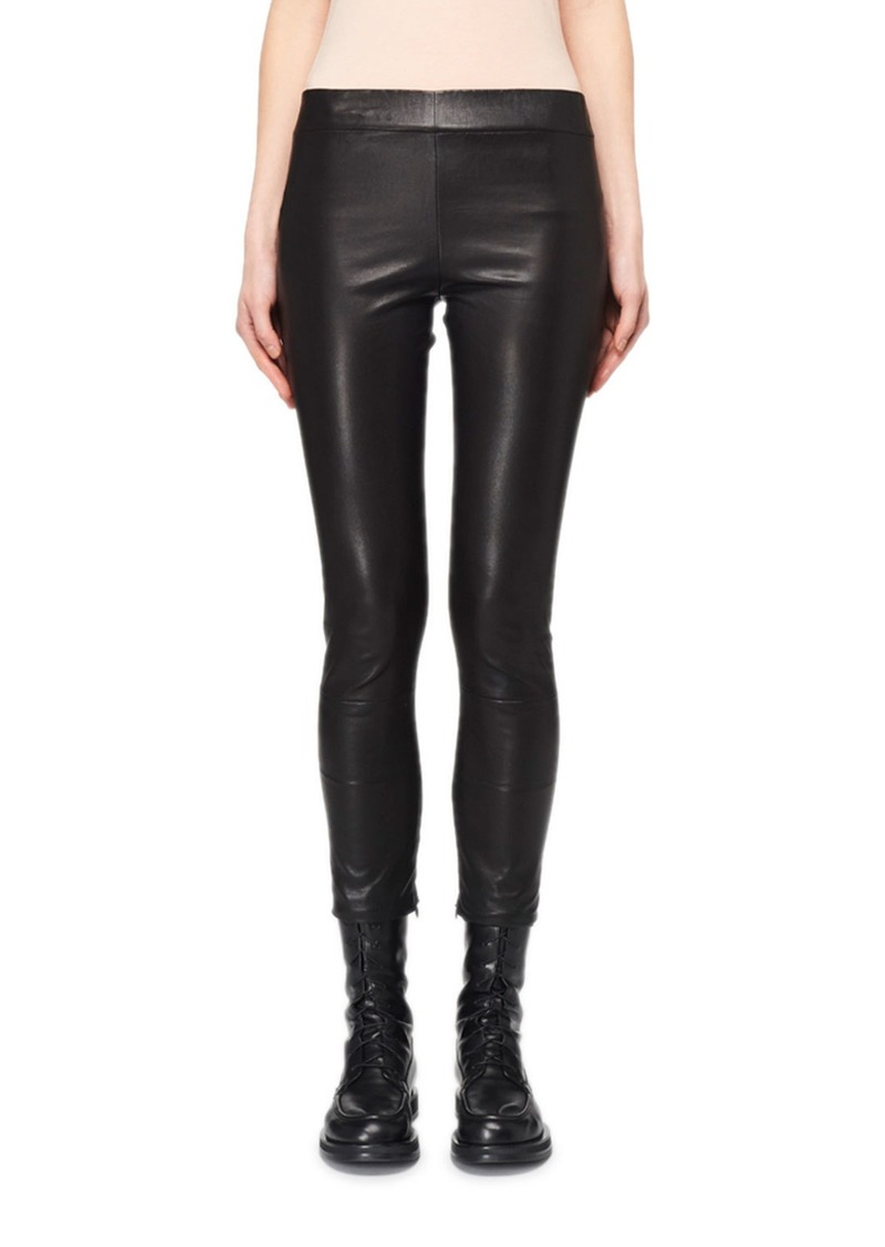 THE ROW Mino Cropped Leather Leggings