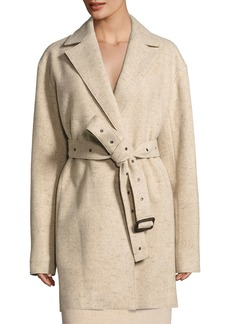 The Row Monire Belted Wool-Blend Jacket