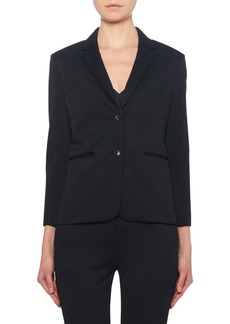 THE ROW Montia Jersey Two-Button Blazer