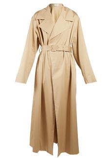 The Row Moora notch-lapel trench coat