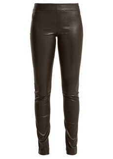 The Row Moto leather trousers