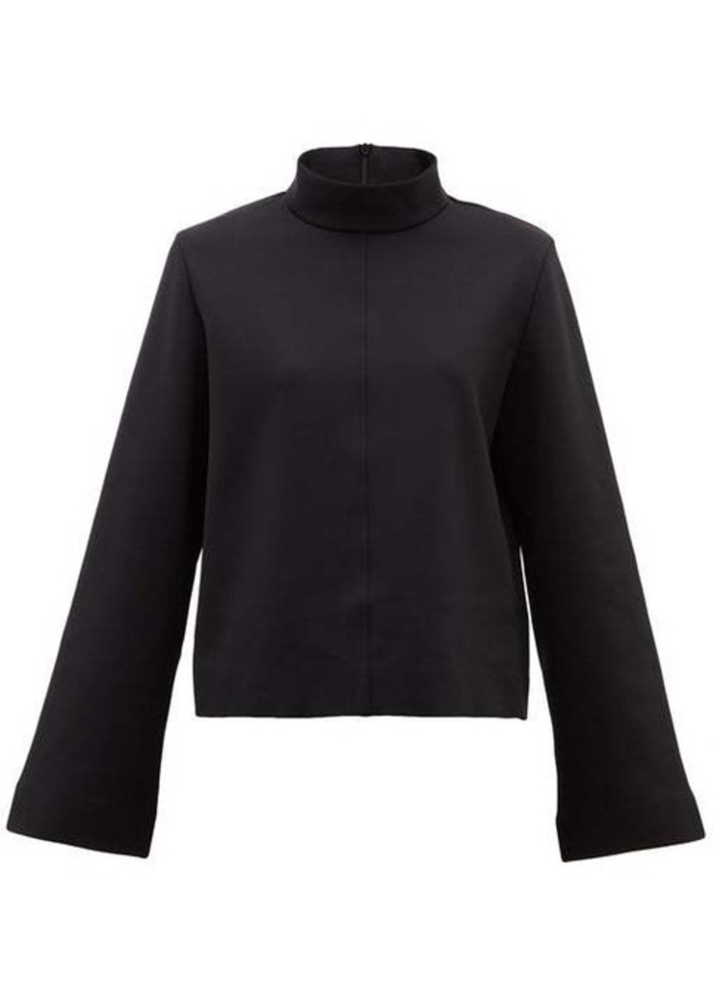 The Row Munie funnel-neck scuba-jersey top