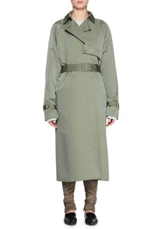THE ROW Naita Belted Nylon Long Coat