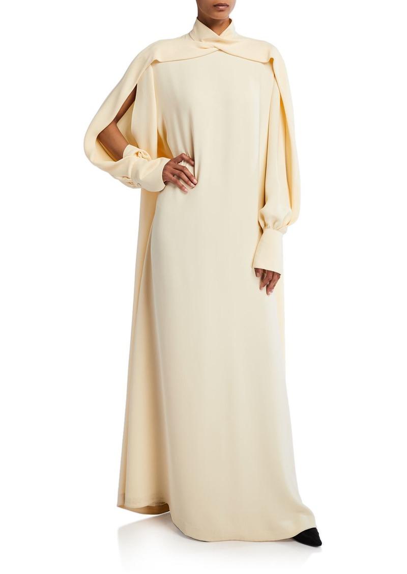 THE ROW Nandi Silk Turtleneck Dress