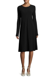 THE ROW Navia Long-Sleeve Cady Dress