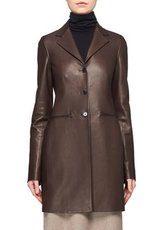 THE ROW Nedifa 3-Button Leather Coat