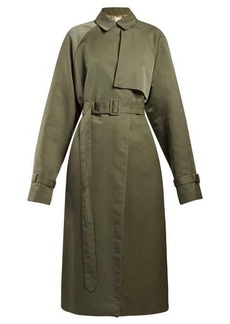 The Row Neita silk trench coat