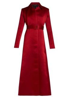 The Row Neyton washed duchess-satin long-line coat