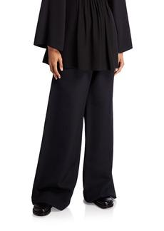 THE ROW Nick Wool-Silk Wide-Leg Pants