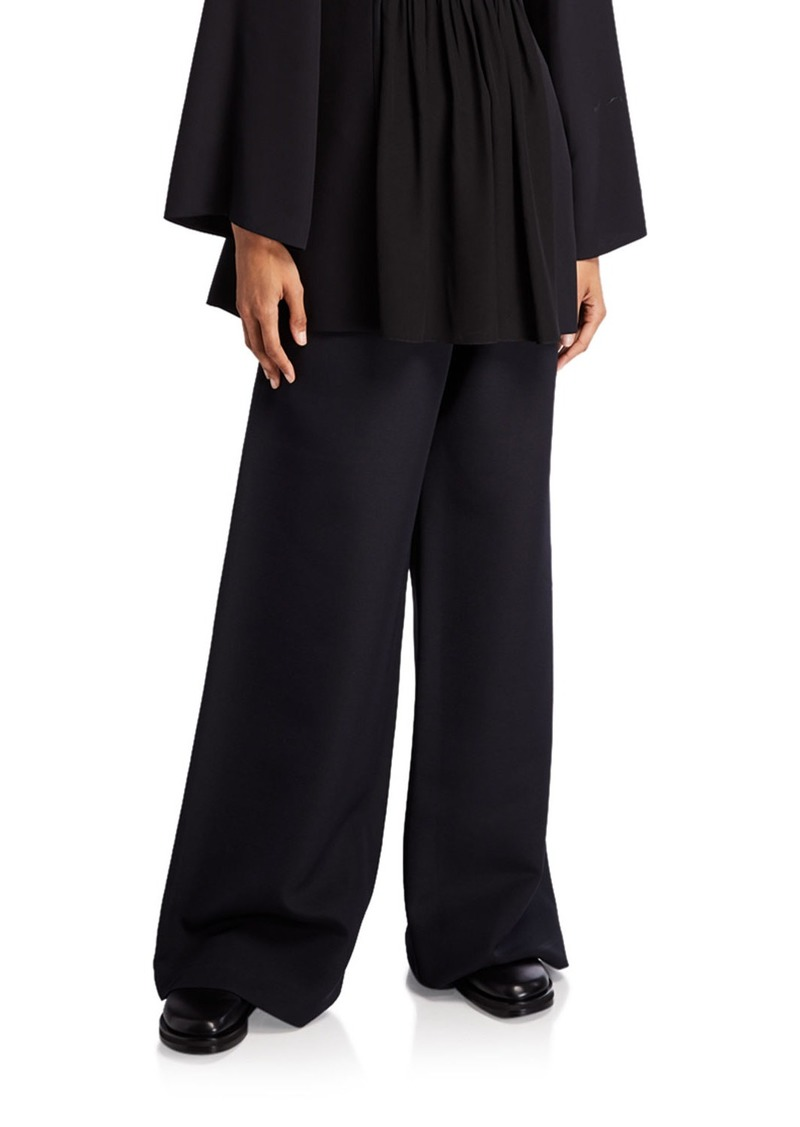 THE ROW Nick Wool-Silk Wide-Leg Pants