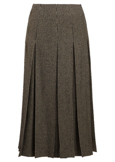 The Row Odell houndstooth wool-blend skirt