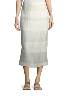 THE ROW Odille Striped Linen Skirt