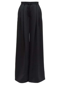 The Row Ossie pleated twill wide-leg trousers