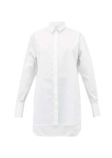 The Row Pedro step-hem cotton-poplin shirt