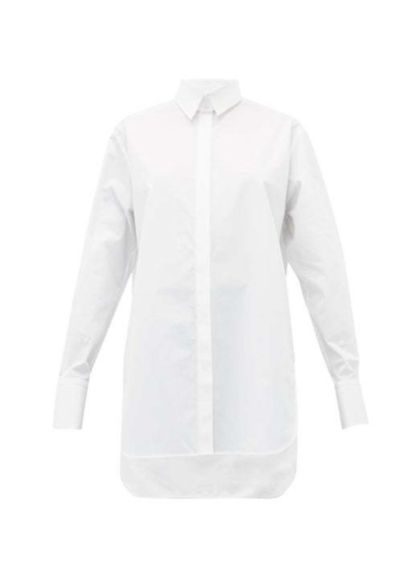 The Row Pedro step-hem cotton-poplin shirt