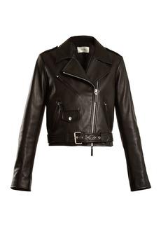 The Row Perlin leather biker jacket